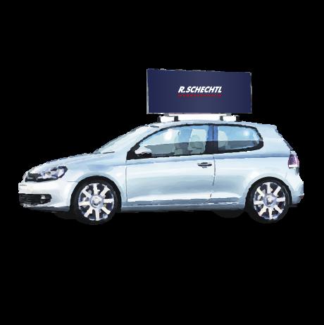 Dachwerbeschild - Promo Drive (fahrbar)